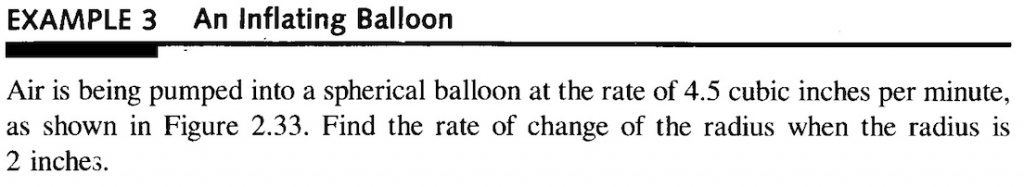 Related Rates: Sphere Expanding Test Question
