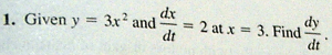 Related Rates Test Question  dy/dt Solved with TI-89