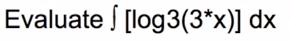 evalutate log problem