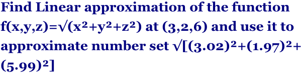 linear approximation